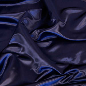 Navy Blue Bridal Satin Fabric