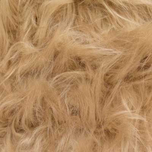 Beige Long Pile Shaggy Faux Fur