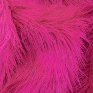 Hot Pink Long Pile Shaggy Faux Fur