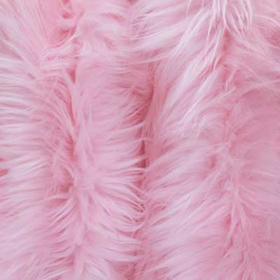 Light Pink Long Pile Shaggy Faux Fur