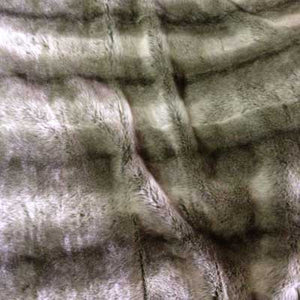 Gray Chinchilla Long Pile Faux Fur