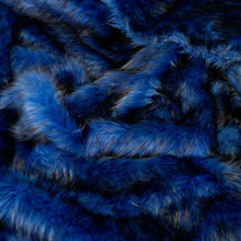 Blue Husky Long Pile Faux Fur Fabric