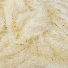 Cream Gorilla Long Pile Faux Fur Fabric
