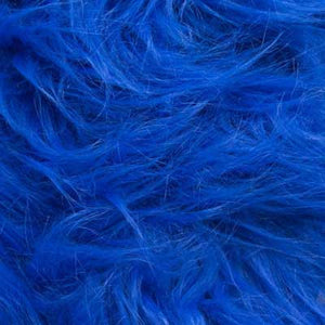 Royal Blue Monkey Long Pile Faux Fur