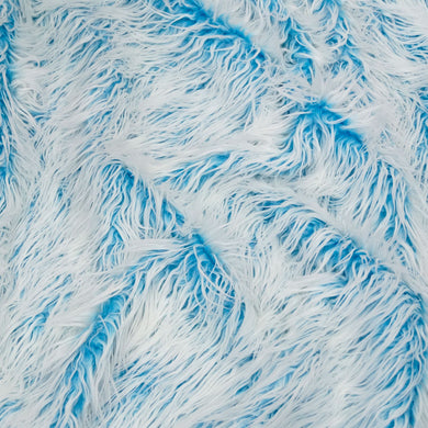 Frosted Mongolian Turquoise Long Pile Faux Fur Fabric