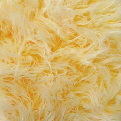 Frosted Mongolian Yellow Long Pile Faux Fur