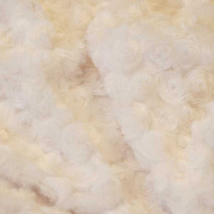 Off-White Minky Rosebud Fur Fabric