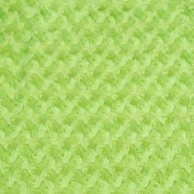 Lime Green Minky Rosebud Fur