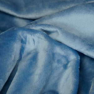 Denim Blue Minky Solid Fur Fabric