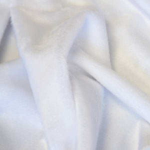 White Solid Minky Fur Fabric