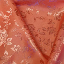 Coral Rose Satin Jacquard Fabric