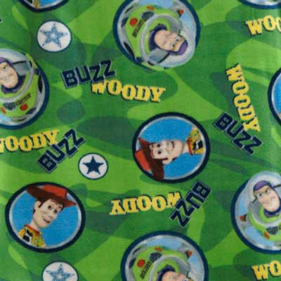 Toy Story - Buzz and Woody Green Fleece