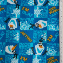 Disney Frozen - I'm Olaf - Blue Fleece Fabric