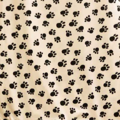 Paw Prints - Black on Ivory Background Fleece