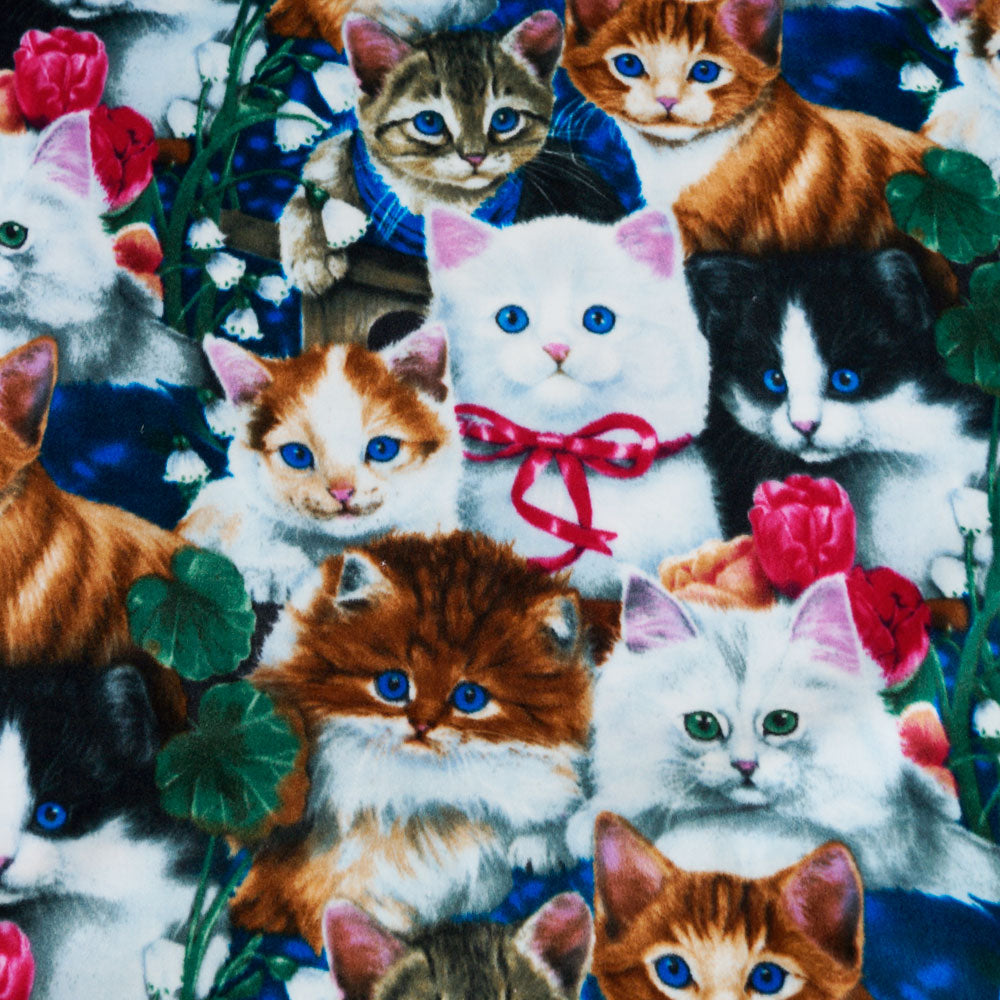Kitten Collage Fleece Fabric