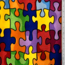 Autism Awareness Multi-color Fleece Fabric