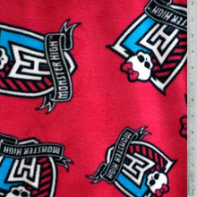 Monster High Fuchsia Fleece Fabric