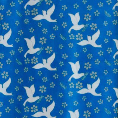 Doves Carrying Olive Branch Royal Blue Fleece