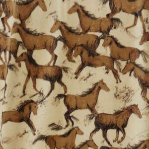 Brown Horses on Tan Background Fleece