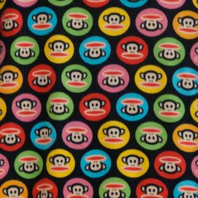 Paul Frank Colorful Monkey Circles Fleece