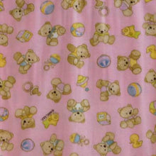 Teddy Bears & Blocks with Light Pink Background Fleece