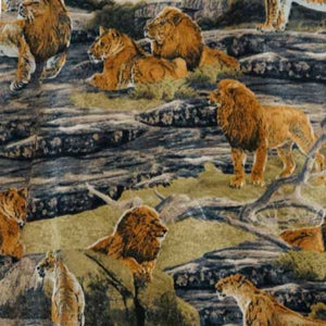 Lions in Wilderness Fleece