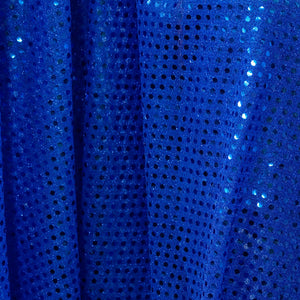Royal Blue Confetti Dot Sequin Cheer Bow Costume Fabric by the Yard