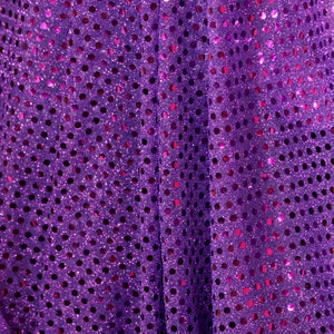 Purple Confetti Dot Sequin Cheer Bow Costume Fabric by the Yard