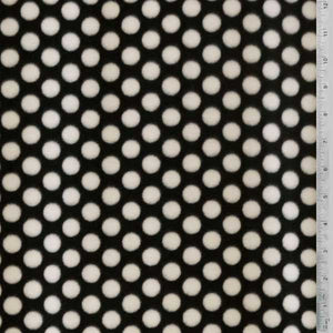 Black with White Polka Dots Fleece Fabric