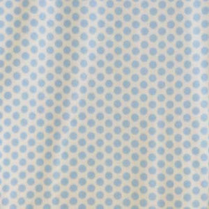 Baby Blue Polka Dots with White Background fleece