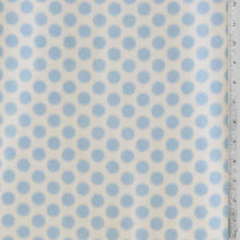 Baby Blue Polka Dots with White Fleece Fabric