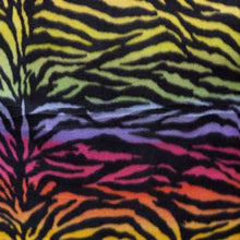 Zebra Stripes Rainbow Background Fleece
