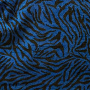 Zebra Stripes Royal Blue Background Fleece