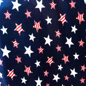 American Red Striped & White Stars Navy Blue Background Fleece