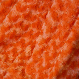 Orange Minky Rosebud Fur