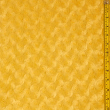 Banana Yellow Minky Rosebud Fur Fabric