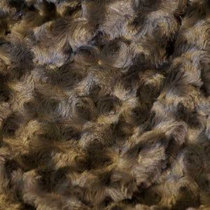 Charcoal Gray Minky Rosebud Fur Fabric