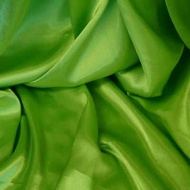 Lime Green Charmeuse Satin