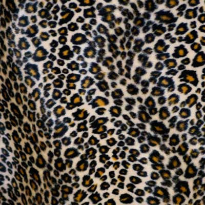 Black and Orange Spot Cheetah Velboa