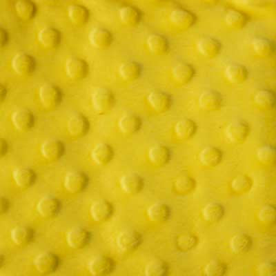 Bright Yellow Minky Dot