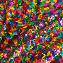 Rainbow Mini Glitz Sequin Fabric