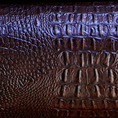 Dark Brown Alligator/Crocodile Vinyl
