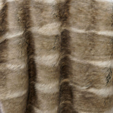 Brown, Gray and White Coyote Long Pile Faux Fur Fabric