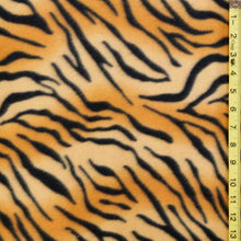 Tiger Striped Fleece Fabric
