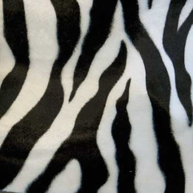 Large Black and White Zebra Velboa