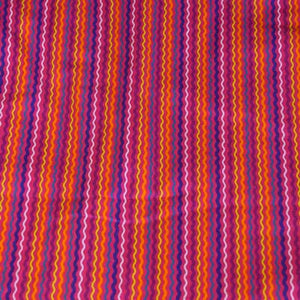 Bright Multi-color Wavy Flannel Fabric