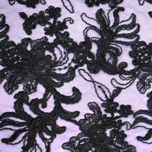 Black Soutache Gatsby Lace