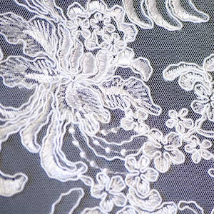 White Soutache Gatsby Lace Fabric