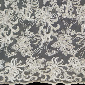 Ivory Soutache Gatsby Lace Fabric