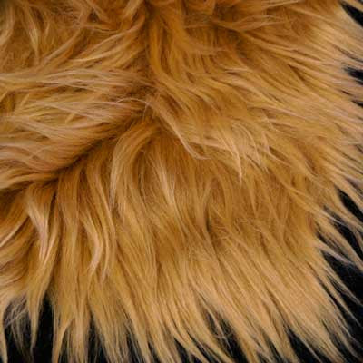 Almond Shaggy Long Pile Faux Fur